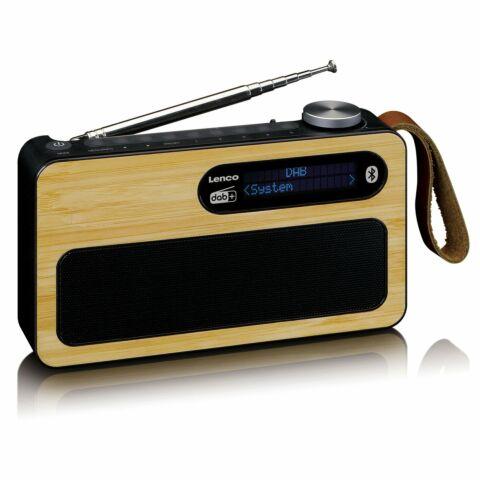 LencoI PDR-040 DAB+/FM radio Bluetooth- Bamboo - Zwart